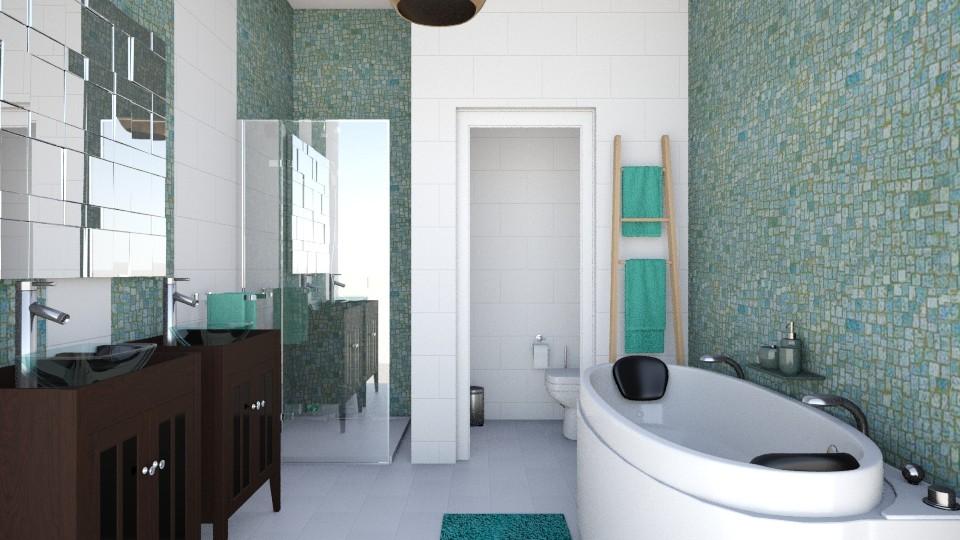 nature bathroom - Bathroom - by ceciliadamian