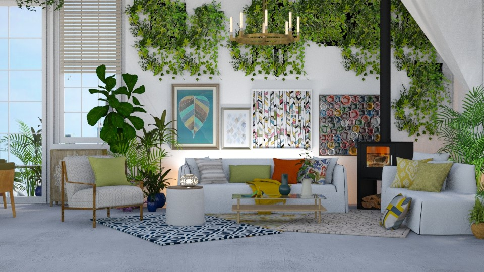 Urban Jungle Living - Modern - Living room - by NEVERQUITDESIGNIT