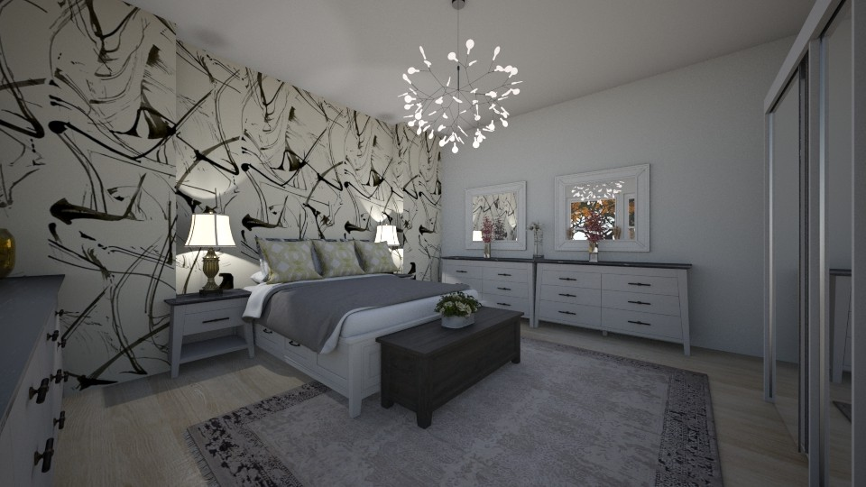 Grey 3 - Modern - Bedroom - by Cath0411