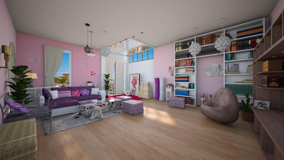 Blue skies - Feminine - Living room  - by harshada samant