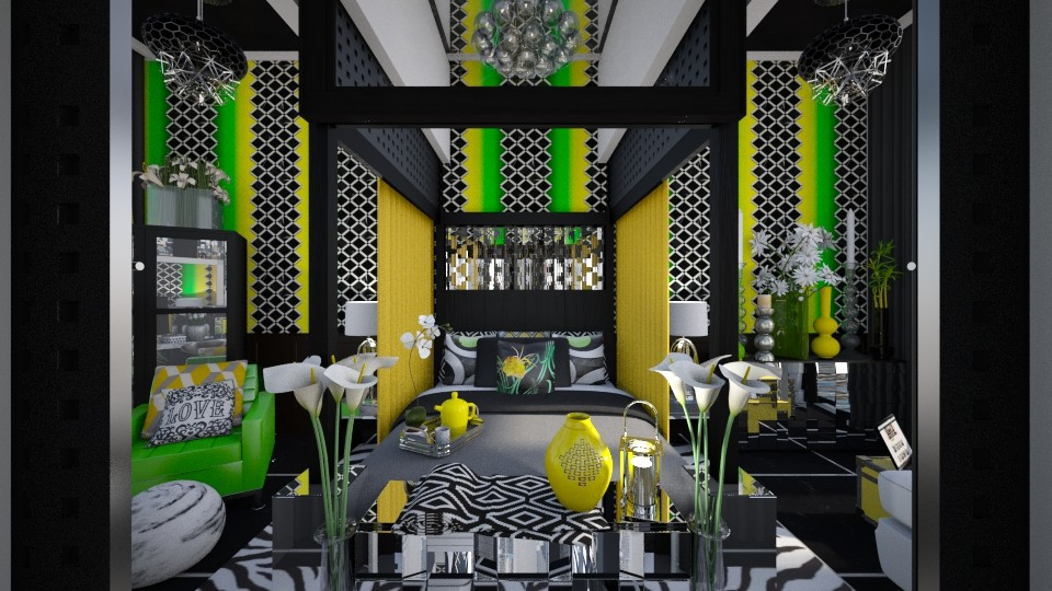 Lemon Lime Geo Glam - Bedroom - by dZynerSuPreme