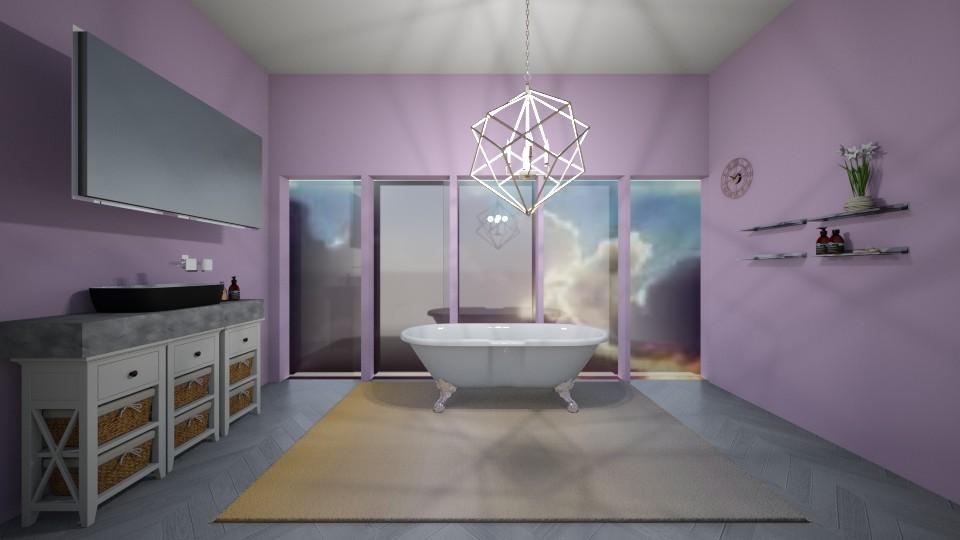 Lavender sunset bathroom  - Minimal - Bathroom  - by aschaper