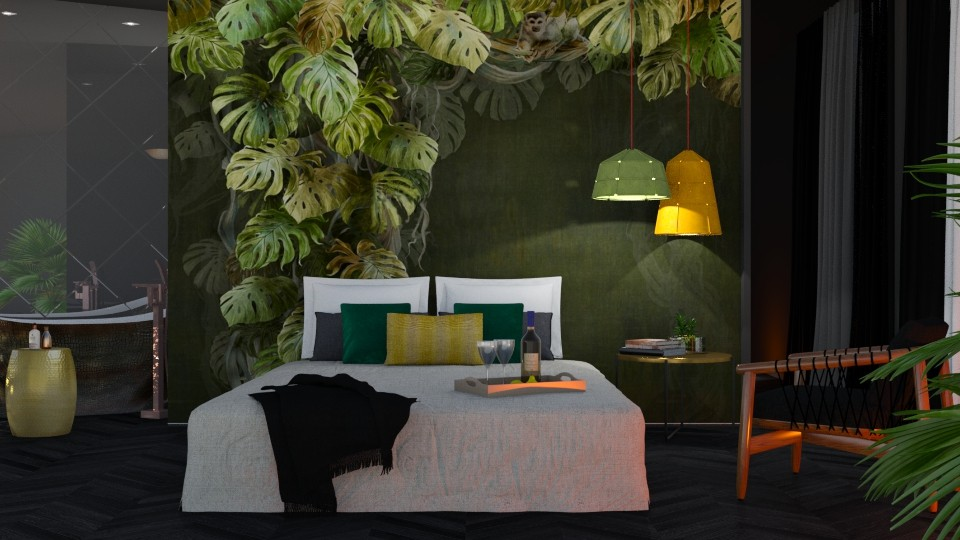 Bedroom Mural - Eclectic - Bedroom - by Valkhan