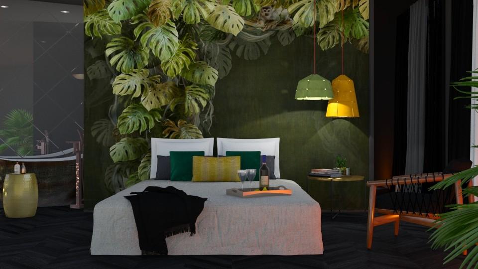 Bedroom Mural - Eclectic - Bedroom  - by Valkhan