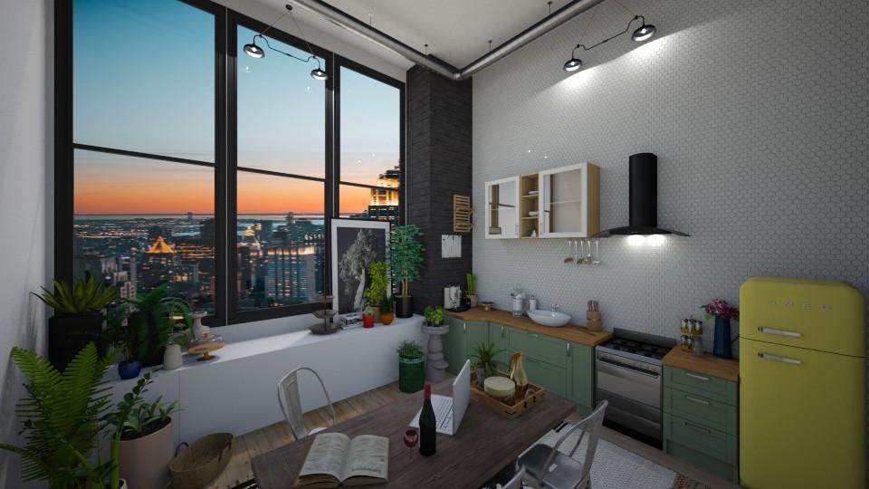 urban jungle kitchen - Kitchen - by td123