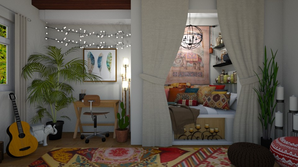 Bohemian nook - Global - Bedroom  - by ziagray