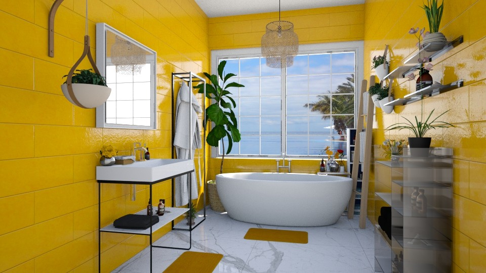 master bath yellow - Bathroom - by Ritix