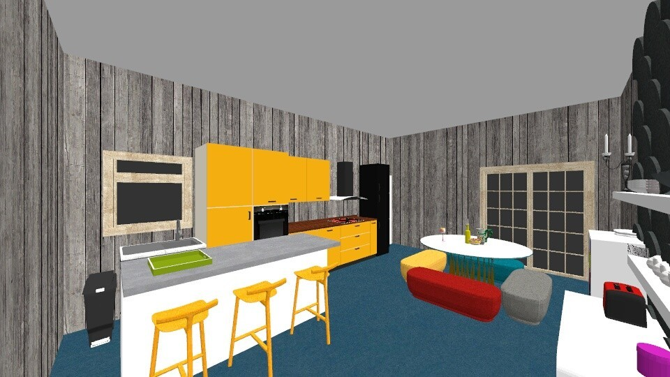 Midcentury modern Kitchen - Kitchen - by McKenna Mitchell