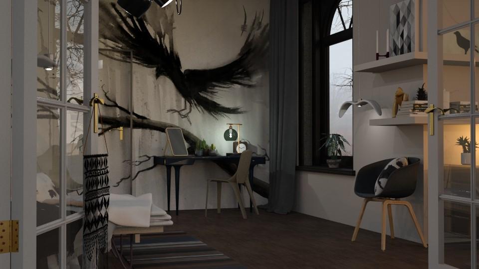 Raven - Feminine - Bedroom - by evahassing