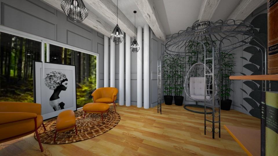garden living room - Living room - by hevans48