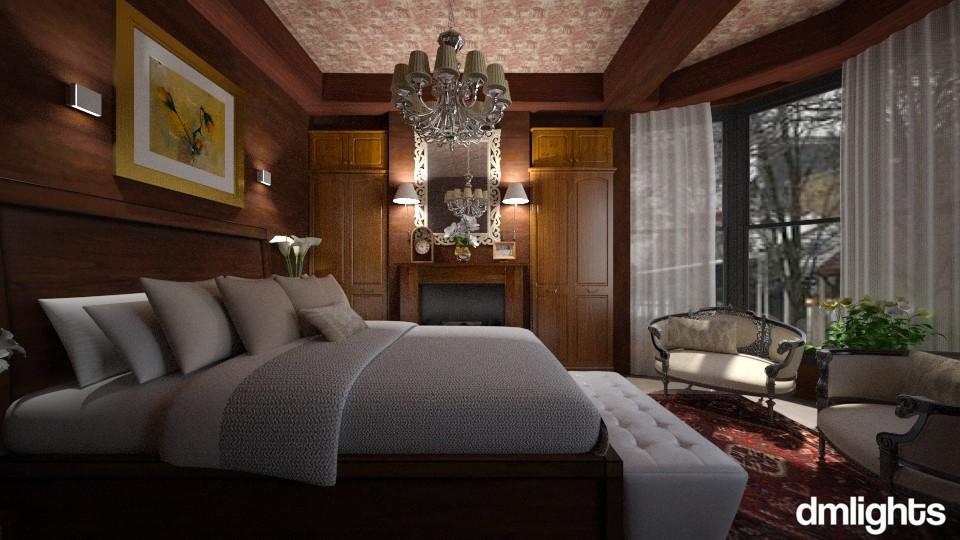 Quarto madeira - Bedroom - by Roberta Bela