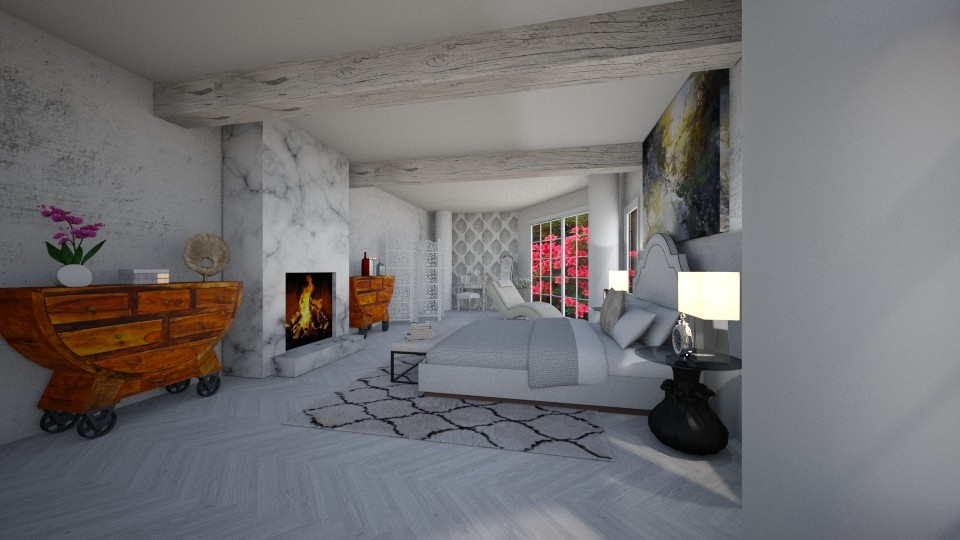 apartment bedroom design - Bedroom - by MilenaTheDesigner