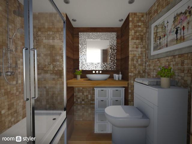 Pequeno banheiro - by Sanare Sousa