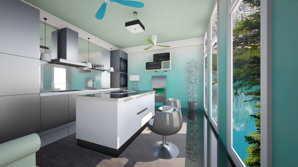 Ombre Kitchen - Modern - Kitchen  - by lauracopey