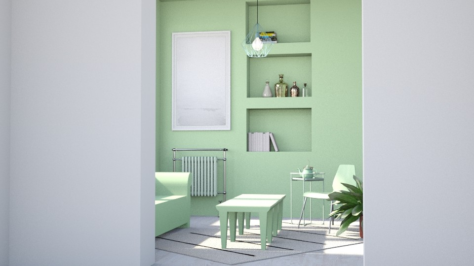 mint monochrome - Living room - by laughterlines