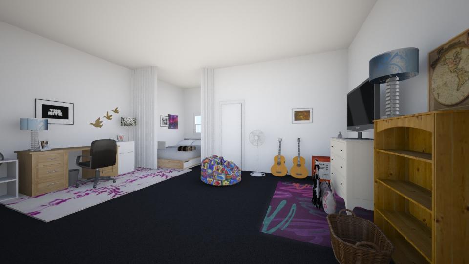 mynewroom2 - Modern - Bedroom - by TiaScotty2015