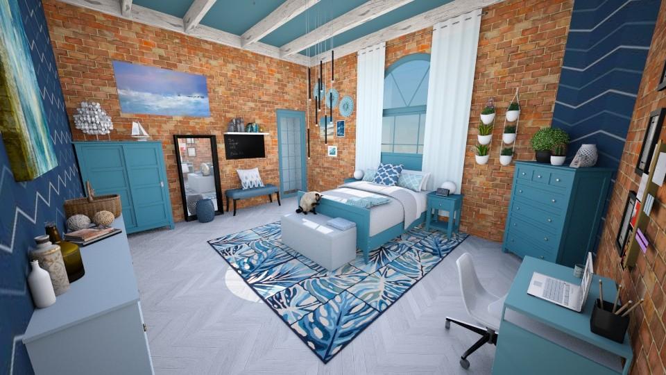blue feeling - Modern - Bathroom - by Randy Hamlin Jule