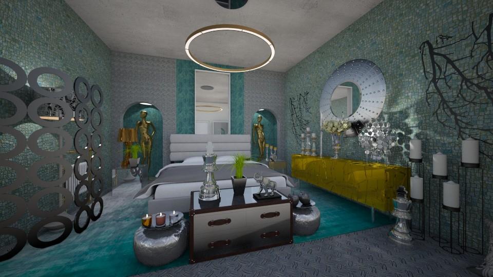 Tyrqouise_Metal - Modern - Bedroom - by Nikos Tsokos
