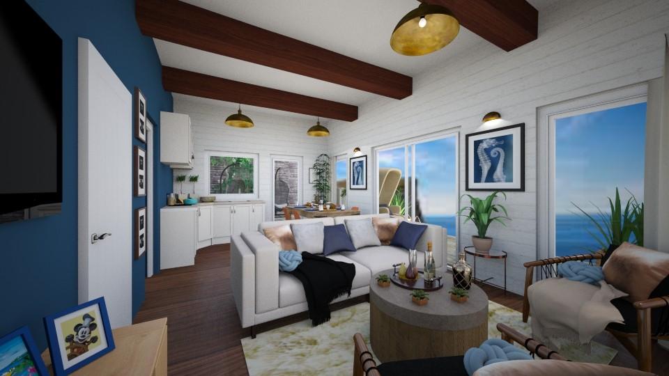 Bleu Haze seating - Living room - by Lisett