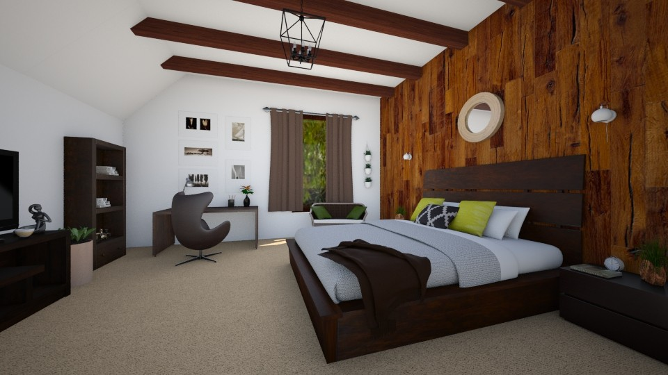 Wood - Bedroom - by evelyn19