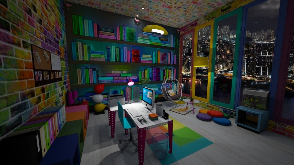 Modern playful office - Office  - by ginamelia22