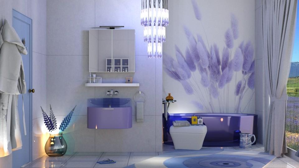 lavander bathroom - by nat mi