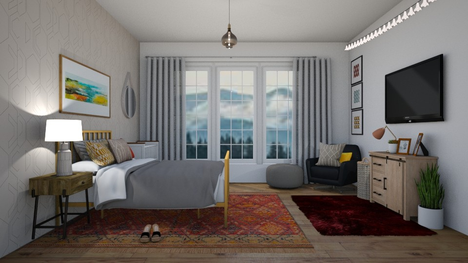 bedroom with a baby boho - Bedroom - by thomanjenna