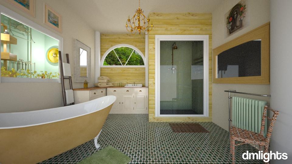 creams - Vintage - Bathroom - by DMLights-user-1118154