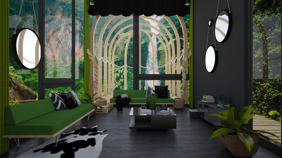 Jungle Paradise - Living room - by ilikalle