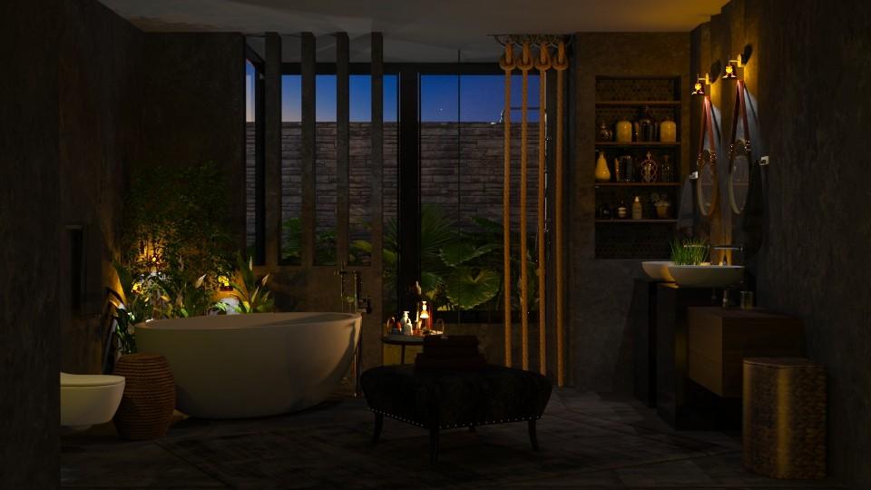 Dark Bathroom - Bathroom - by Mariana Gooliveira
