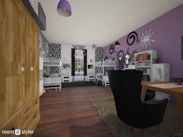 Boarding School Bedroom - Bedroom  - by SilentWaters