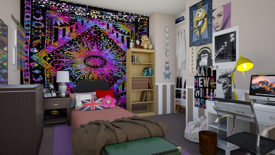 Teenage girl 2019 Redo - Bedroom - by ijustlikemakingfloorplans