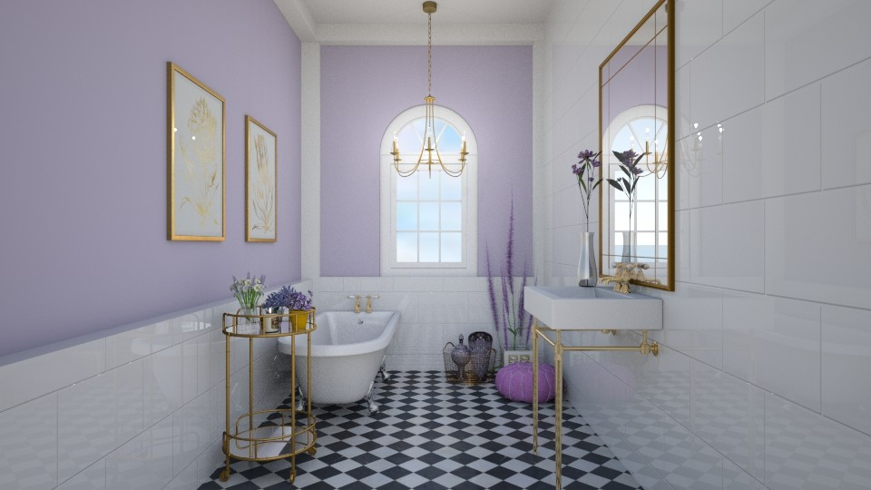 Lavender and gold - Glamour - Bathroom  - by sara1010