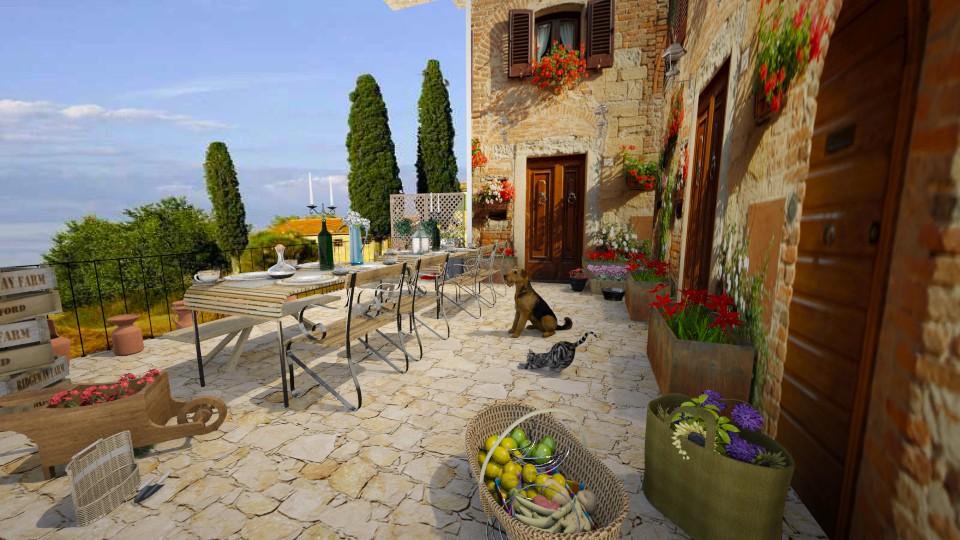 tuscany - Garden - by Dibiduu