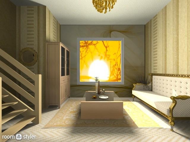 Golden Luxury - Living room - by Cam Styler