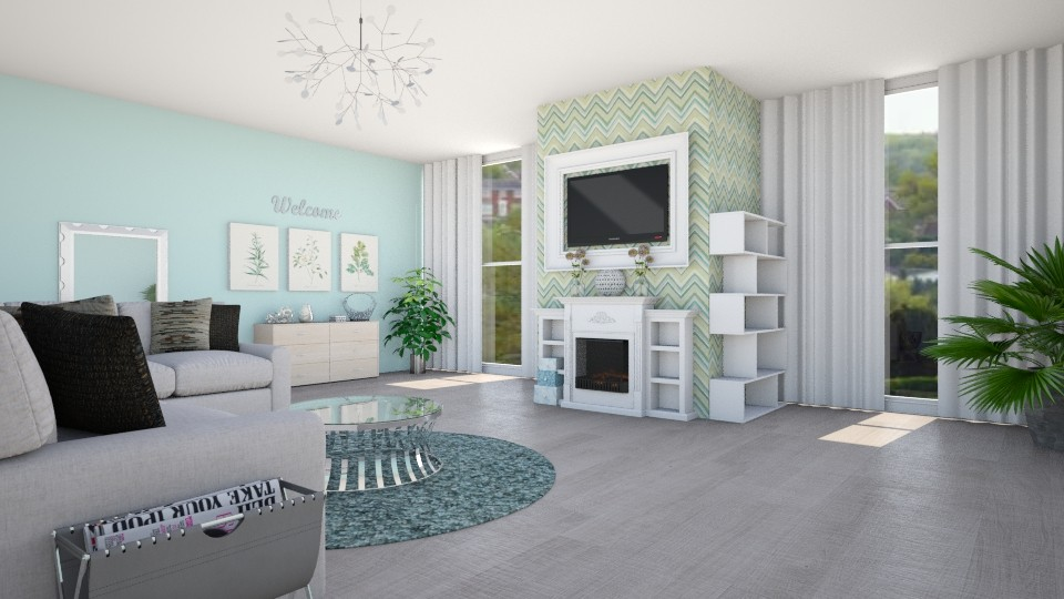 Natural Green Living  - Living room - by Shelley_1