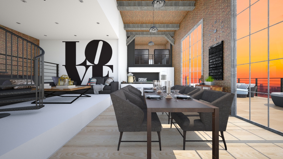 Urban Loft - Modern - Living room  - by nyc17