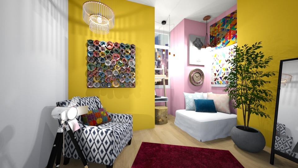 Bright and Colorful - Bedroom - by CatLover0110
