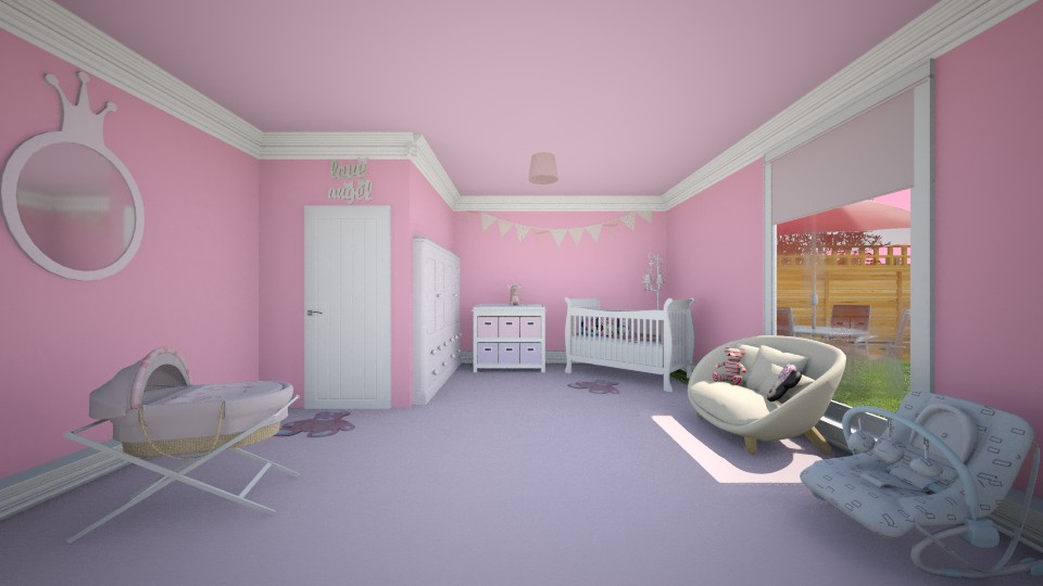 Girls Nursery - Kids room - by creato