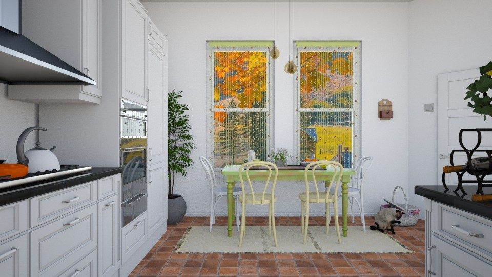 Pastel autumn begining - Kitchen - by agapka