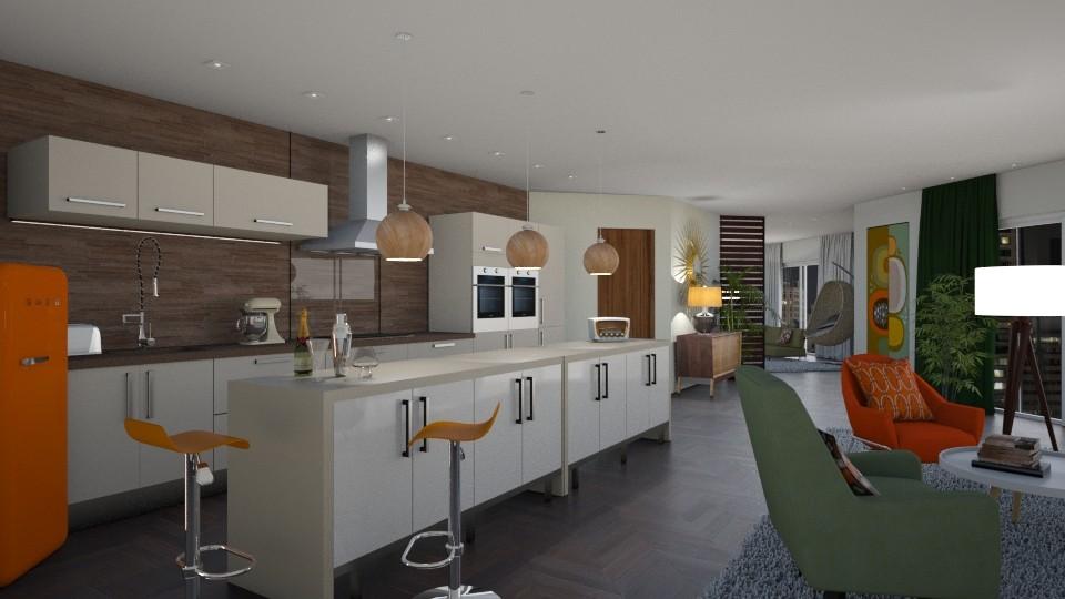 Mid Century Kitchen - Kitchen - by CAD Service UK