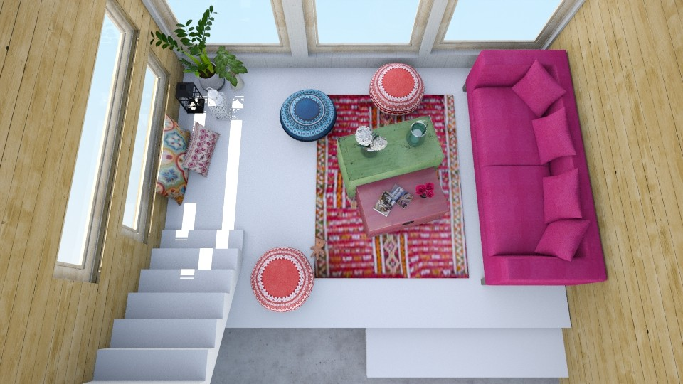 boho city loft - Living room - by pingbubbles