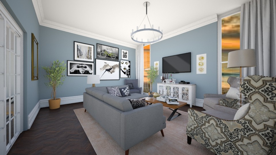 blue living - Eclectic - Living room - by renne