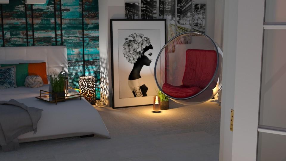 Bubble Chair - Bedroom  - by JoyG23