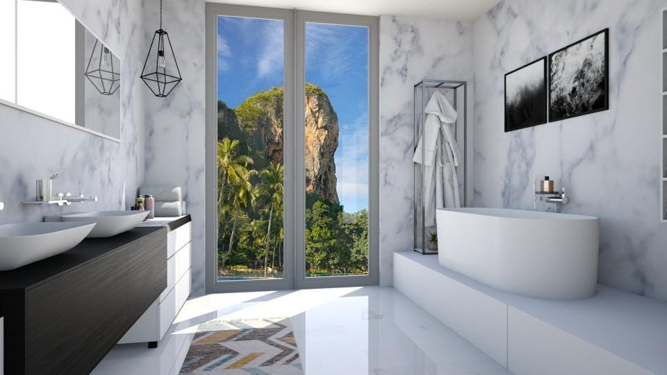 Marvellous Marble - Bathroom - by niidurose