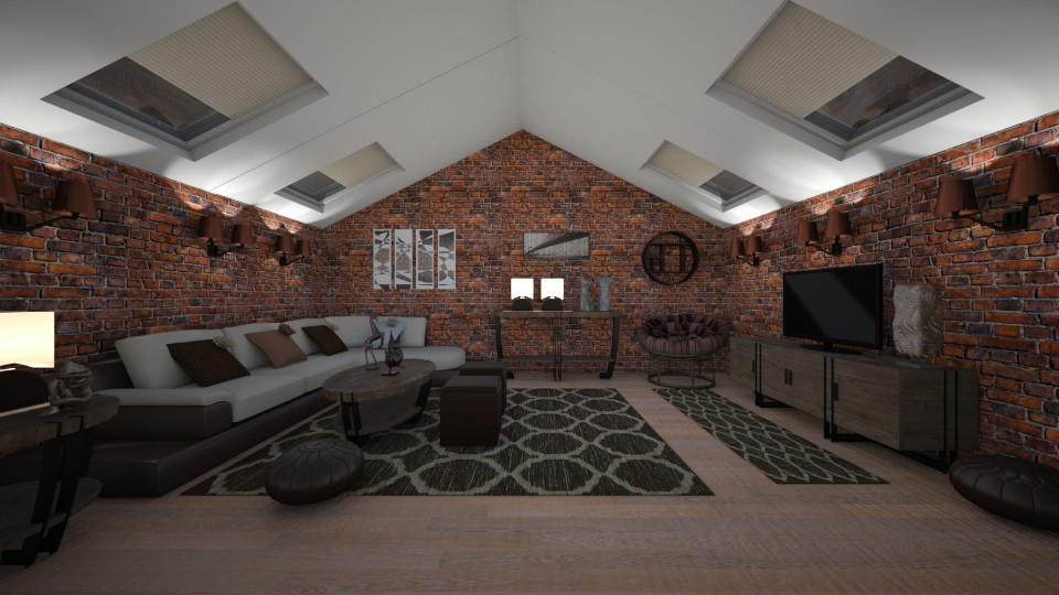 Attic room - Living room - by Timea Fischer