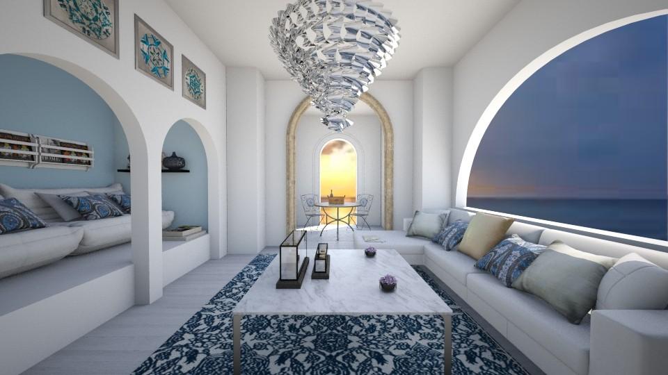 Greek - Living room  - by laurencowper