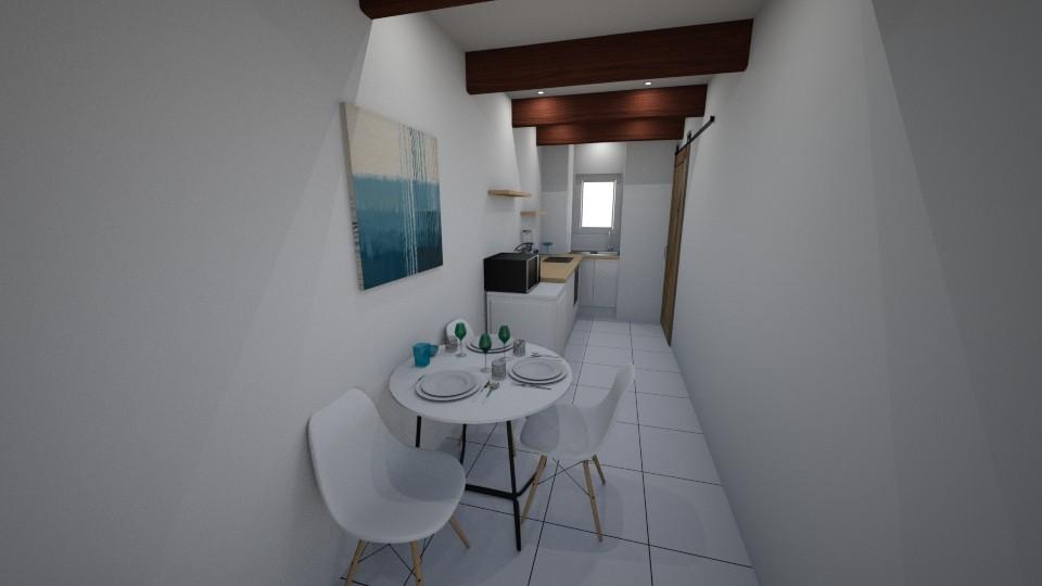 Small narrow kitchen - Modern - Kitchen - by ivoryblu