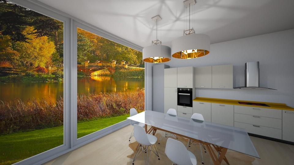 Kitchen 1 - Living room  - by katarinalaaksonen
