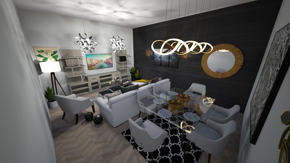 living room and dining ro - Living room - by zahraa97